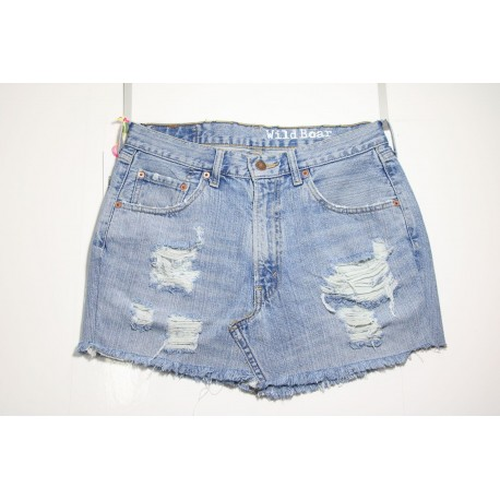 LEVI'S MINI SKIRT DESTROY