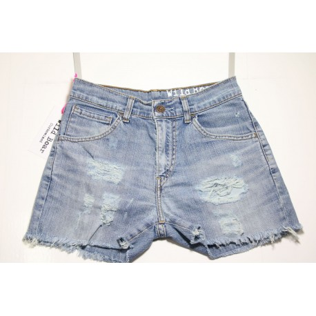 LEVIS SHORT STRAPPATO DESTROYED