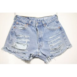 LEVI'S 501 SHORT DESTROY Capo Unico N.322