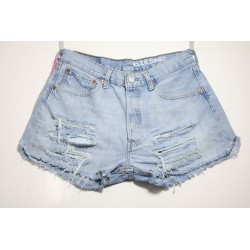 LEVI'S 501 SHORT DESTROY Capo Unico N.324