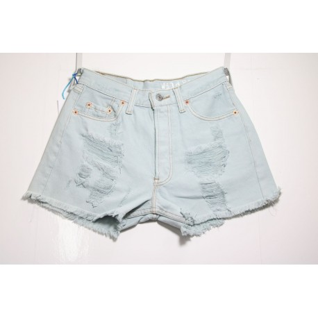 LEVIS SHORT 501 STRAPPATO DESTROYED