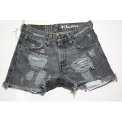 LEVIS SHORT 507 NERO DESTROYED