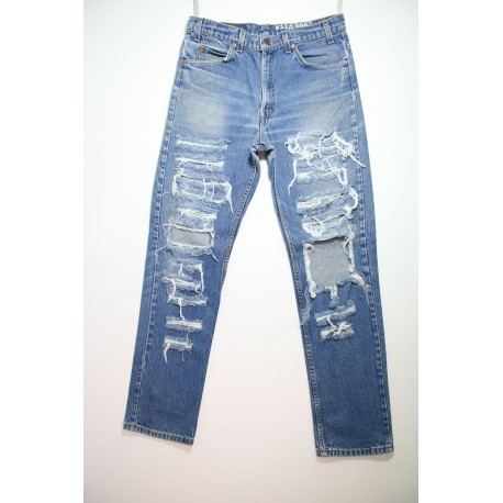 LEVI'S 505 STRAPPATO DESTROYED OVER