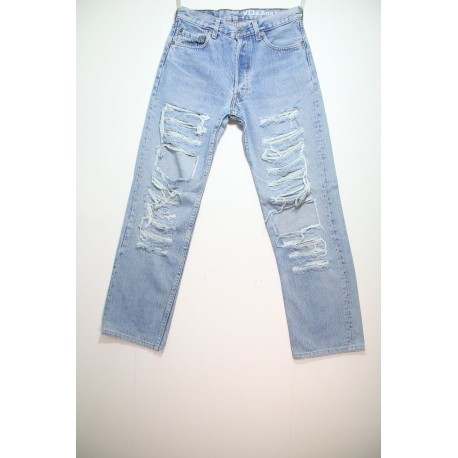 LEVI'S JEANS 501 DESTROYED OVER