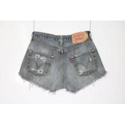 Short Levis 501 grigio borchiato