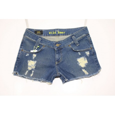 LEE SHORT JEANS VITA BASSA DESTEROYED