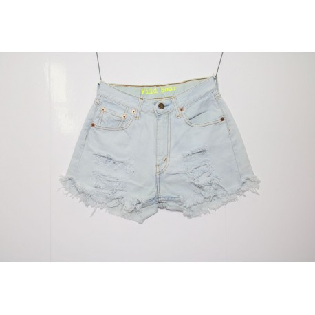 Short Levis 501 denim strappato