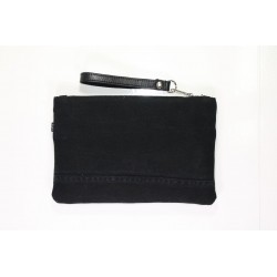 POCHETTE IN JEANS NERO MIS. SMALL