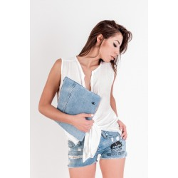 POCHETTE IN JEANS COL. DENIM MIS. MEDIA