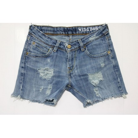 Levis 572 short jeans vita medio bassa destroyed