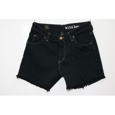 LEE SHORT JEANS NERO