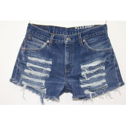 LEVIS SHORT 516 STRAPPATO DESTROYED