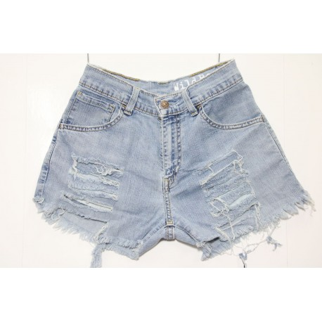 LEVIS SHORT 525 STRAPPATO DESTROYED