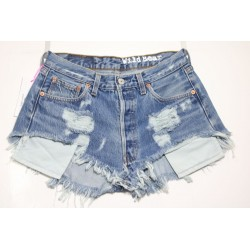 LEVI'S 501 SHORT DESTROYED HOT Capo Unico N.220