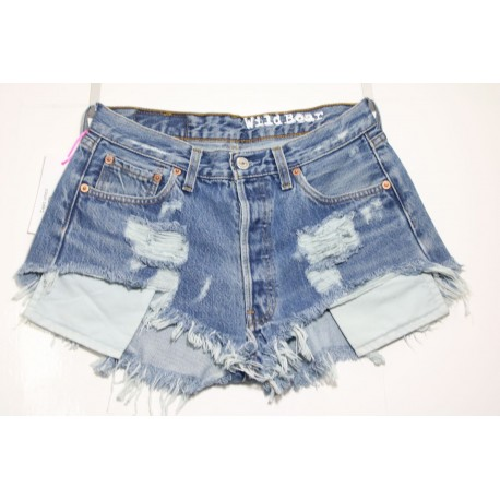 LEVI'S 501 SHORT DESTROYED HOT