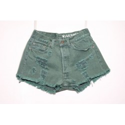 LEVI'S 501 SHORT DESTROYED Capo Unico N.235