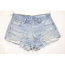 LEVI'S 501 SHORT DESTROYED Capo Unico N.150
