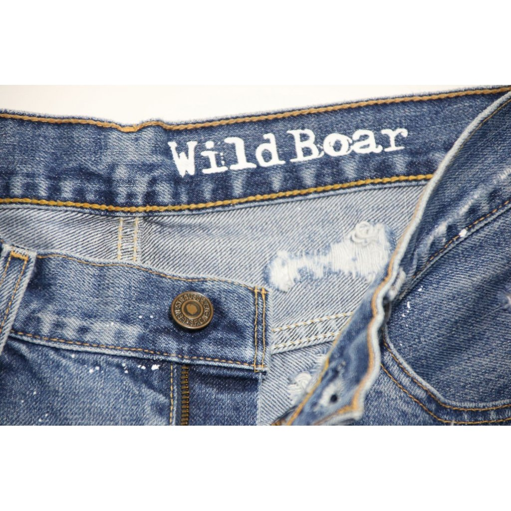 LEVI S 516 SHORT DESTROYED CON VERNICE E BORCHIE - Wild Boar 02acf4a55ba