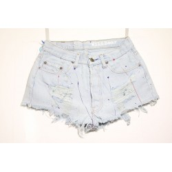 LEVI'S 501 SHORT DESTROYED CON VERNICE Capo Unico N.171